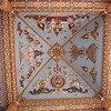The ornate ceiling of Patuxai
