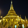 Shwedagon Pagoda is busy at night as well.