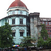 Downtown Yangon is full of crumbling British colonial remnants.