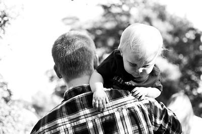 Dad's shoulder
