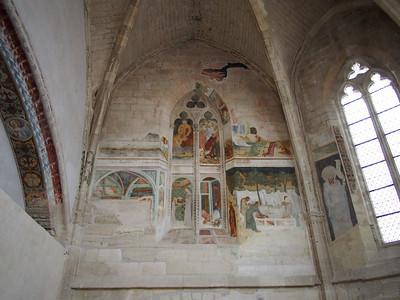 14C frescoes, Chartreuse du Val de Benediction, Villeneuve-les-Avignon