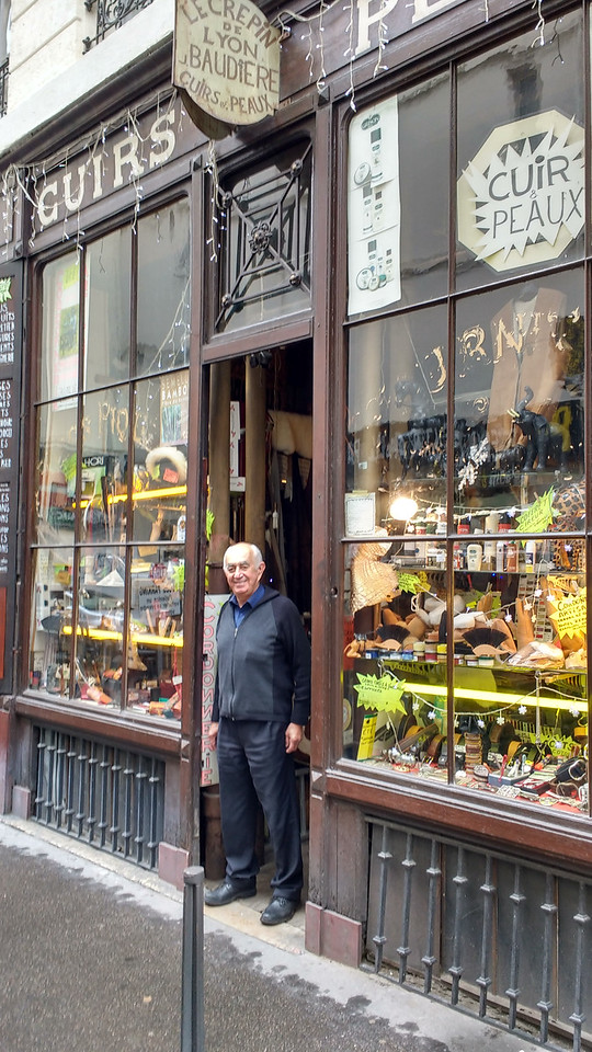 Le Crépin leather shop, Lyon