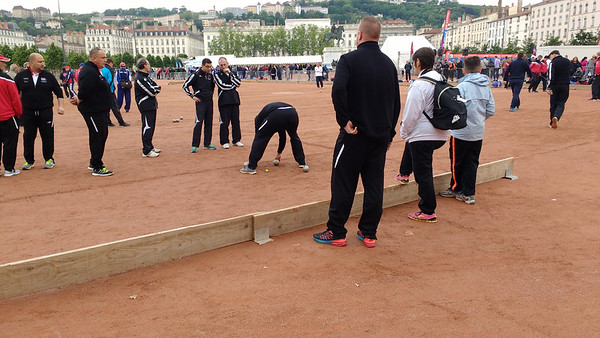 Boules competition, Place Bellecour, Lyon