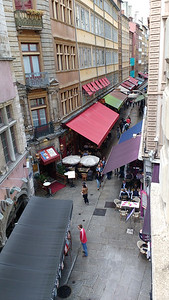 View from our apartment, 46 rue de Brest, Lyon