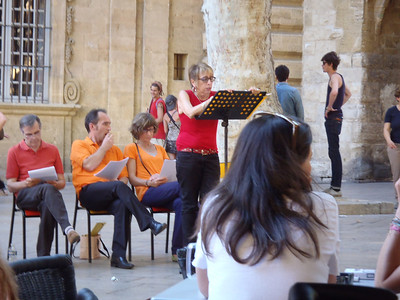 Inaudible poetry reading, Festival d'Aix