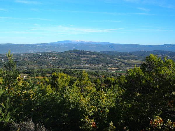 Looking north, over the Monts de Vaucluse, to Mont Ventoux