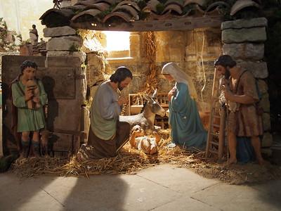 Christmas creche, Bonnieux