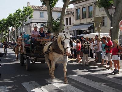 Fête de la transhumance à Saint-Rémy-de-Provence. The start of the procession.