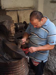 Metal worker, Medina, Fez