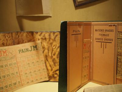 Ration cards. Musée d'Histoire 1939-1945, Fontaine de Vaucluse
