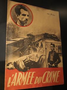Positioning the resistance as criminals. Musée d'Histoire 1939-1945, Fontaine de Vaucluse