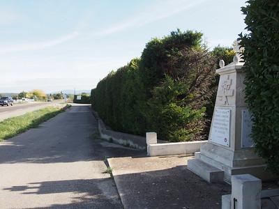Memorial on D900 near Coustellet