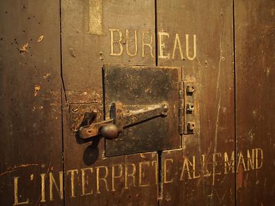 Door to interrogation room, Sainte-Anne prison, Avignon