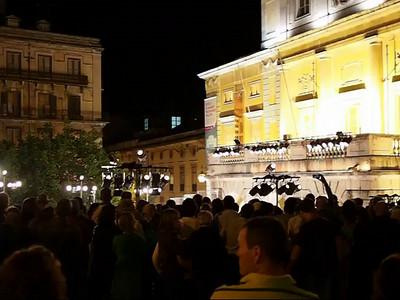 Outdoor choral concert, Lisbon