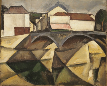 Roger de la Fresnaye, The Bridge at Meulan, 1912