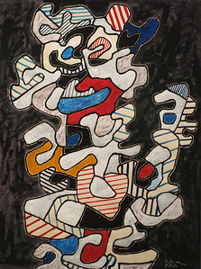 Jean Dubuffet, Telephonist, 1964