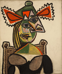 Pablo Picasso, Woman with hat in armchair, 1939