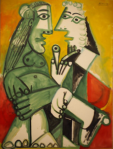 Pablo Picasso, Nude and Man with Pipe (The Conversation), 1968
