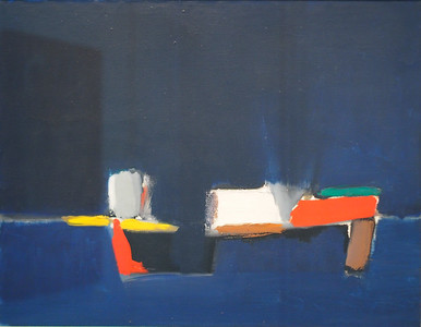 Nicolas de Stael, Countryside, Sea, 1954