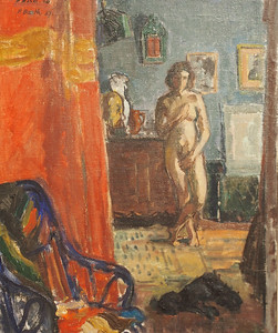 Paul Basilius Barth, Interior with nude, 1937