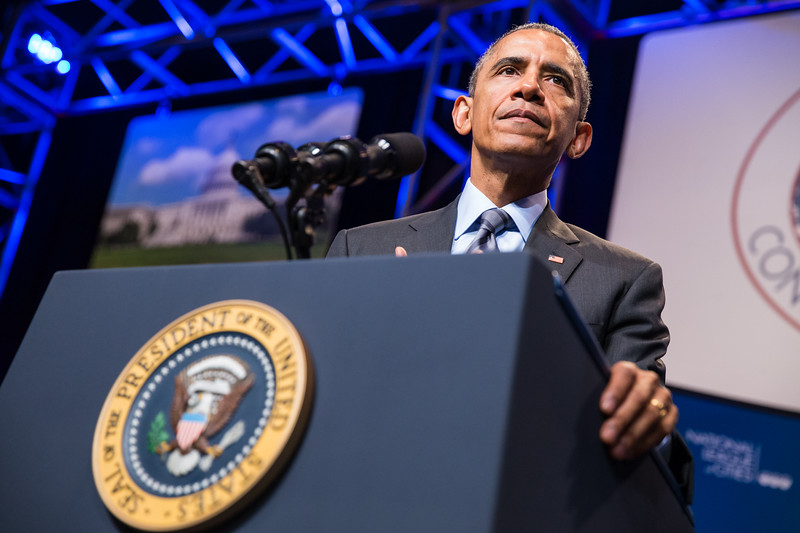 President Obama speaks to the National League of Cities in Washington, DC