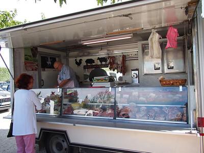 Rabbit, beef, turkey, chicken, lamb, pork. Saturday market, Le Petit Palais