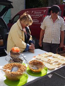 Hummous seller. Saturday market, Le Petit Palais