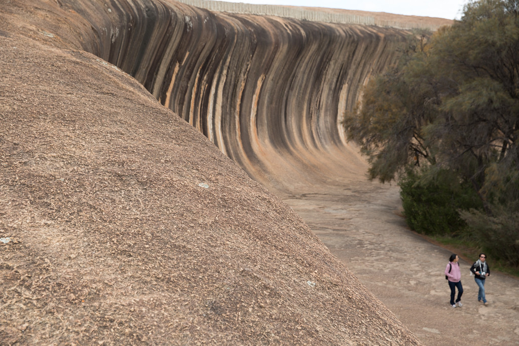 Tourists at Wave Rock, Hyden