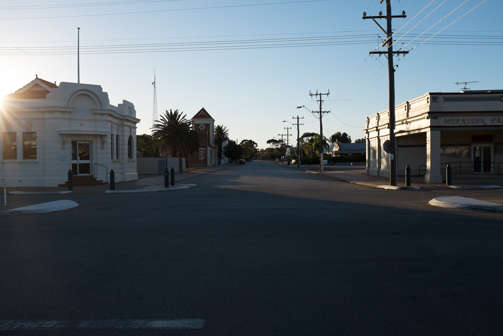 Morning lights in Merredin
