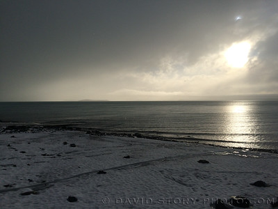 Parting shot of sun on Skilak.