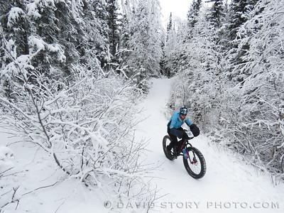 2016 Frosty Bottom Winter Snow Bike Race in Anchorage, AK.