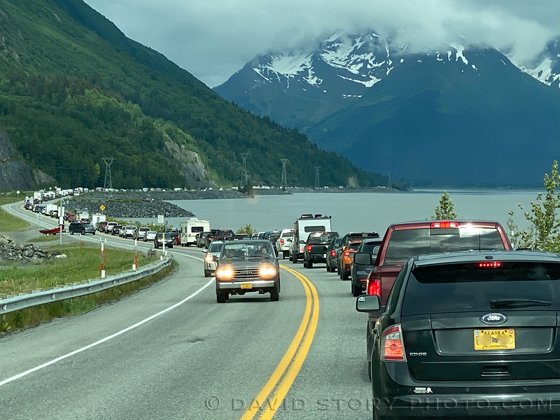 2020 06 19: Turning around on Turnagain arm. Seward Highway, Alaska.