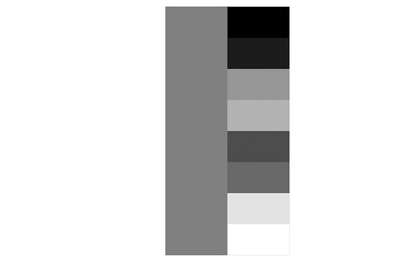 Greyscale of the RGB and CMYK color scheme