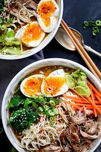 (c) Kitchen Sanctuary http://kitchensanctuary.com/2016/07/spicy-pork-ramen-noodle-soup/
