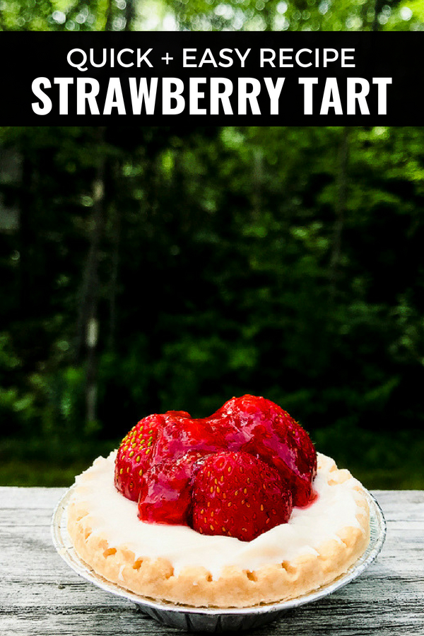 A super easy strawberry tart recipe, perfect for people who hate to bake. This recipe is fool proof. #starwberries #tart #easy #baking