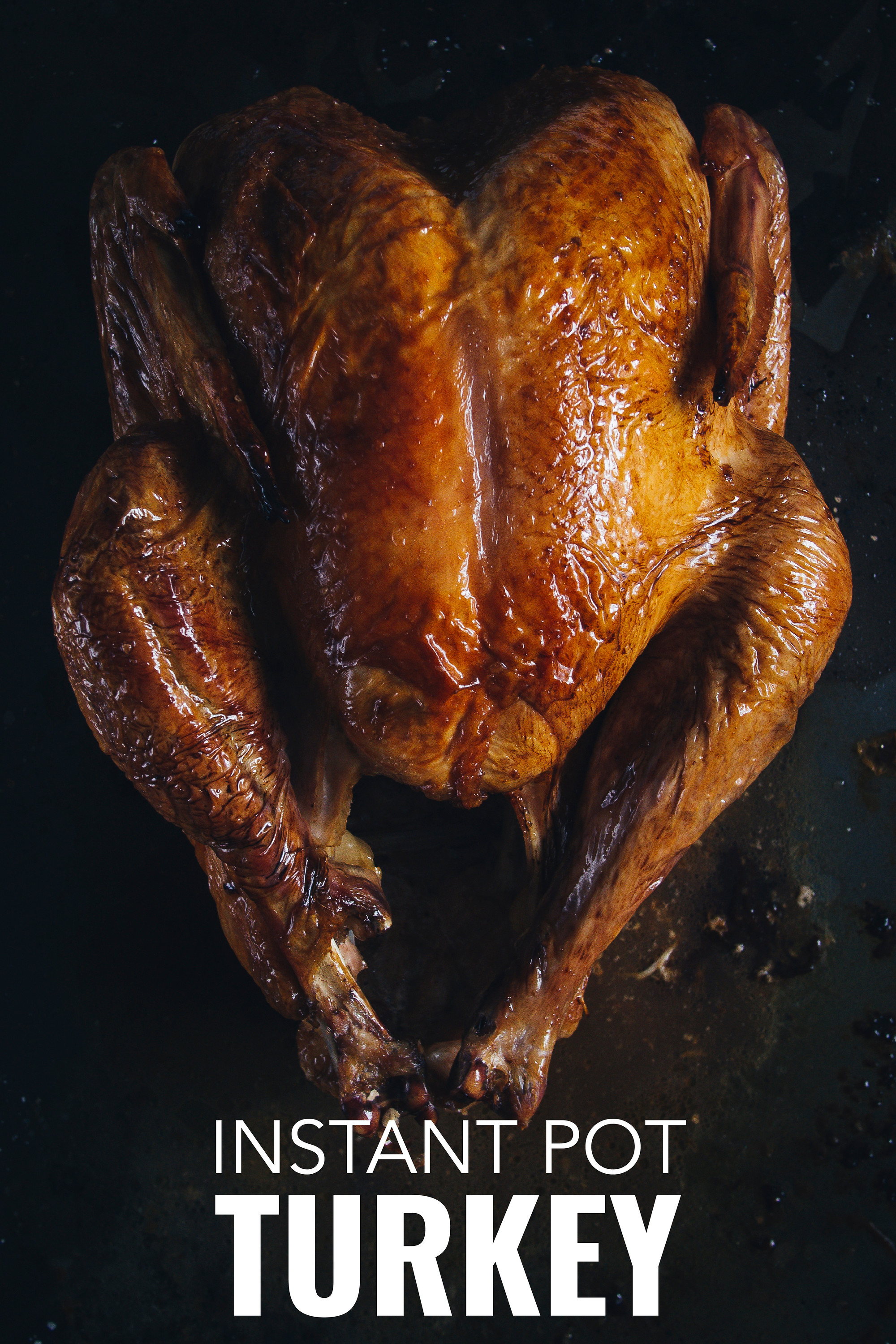 With this Instant Pot turkey recipe it is possible to cook a whole turkey with crispy skin.