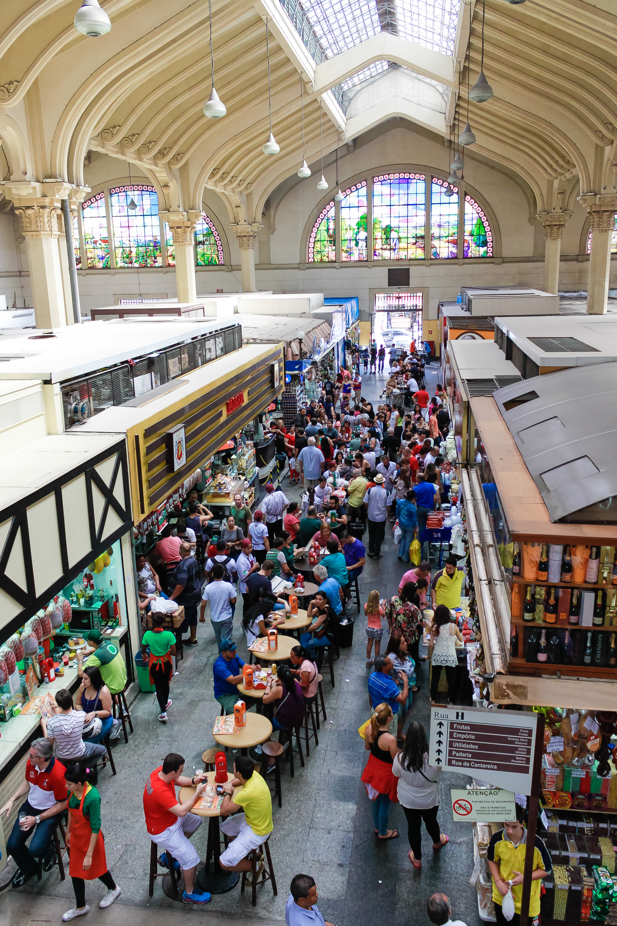 Don't miss the Sao Paulo market, one of the best places to shop and where locals eat in Sao Paulo/