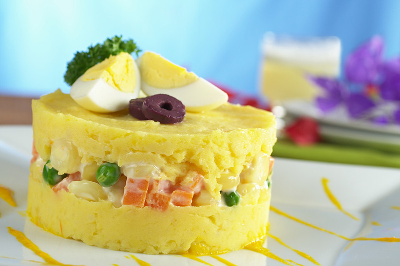"Peruvian Dish Called ""Causa"""