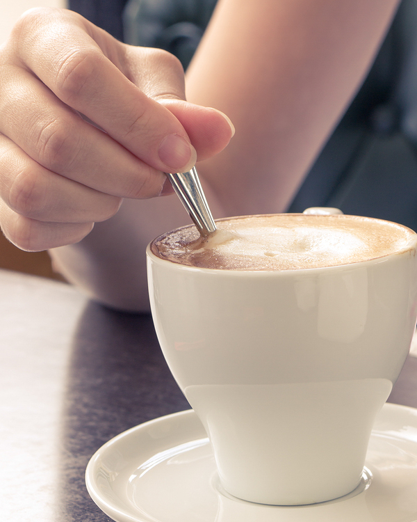 Morning Coffee. Cup Of Cappuccino In Cafe