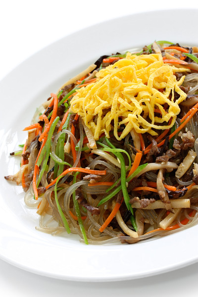 japchae, korean cuisine