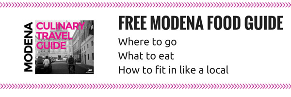 Get this free 42 page Modena Travel Guide with all the best tips for where and when to eat in Modena as well as Italian customs so you can fit in like a local.