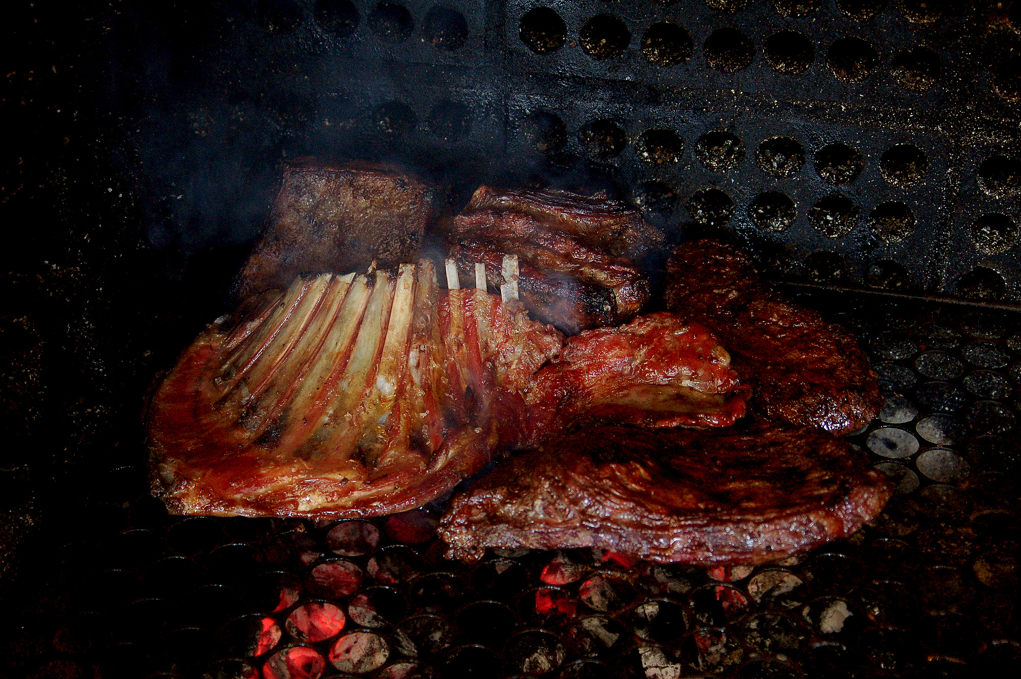 Asado or barbecue is an important Brazilian food as much of the country eats beef.
