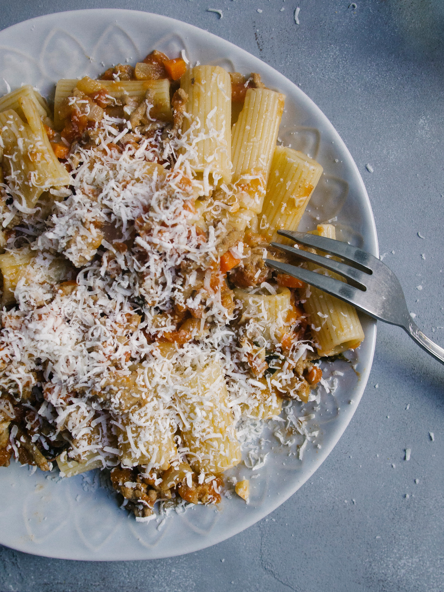 This easy rigatoni bolognese recipe is perfect for a weeknight meal and freezes beautifully.