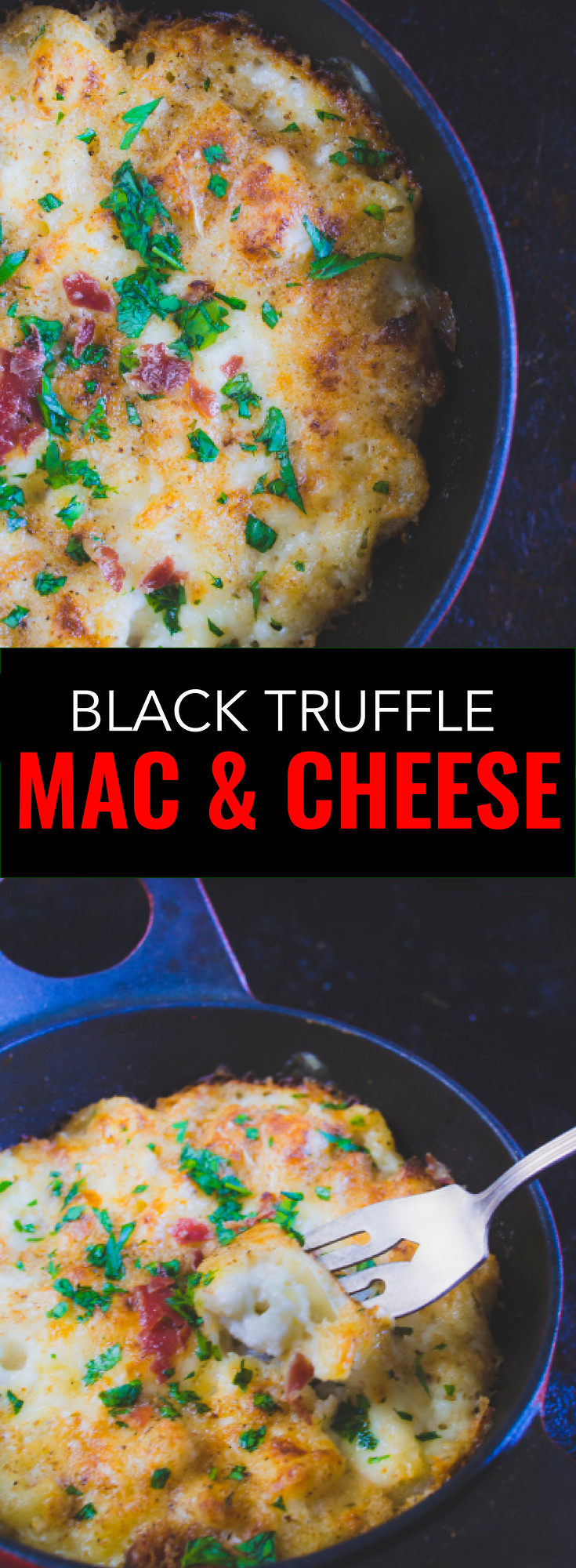 Easy black truffle mac and cheese, adult flavours with all the comfort of pasta.