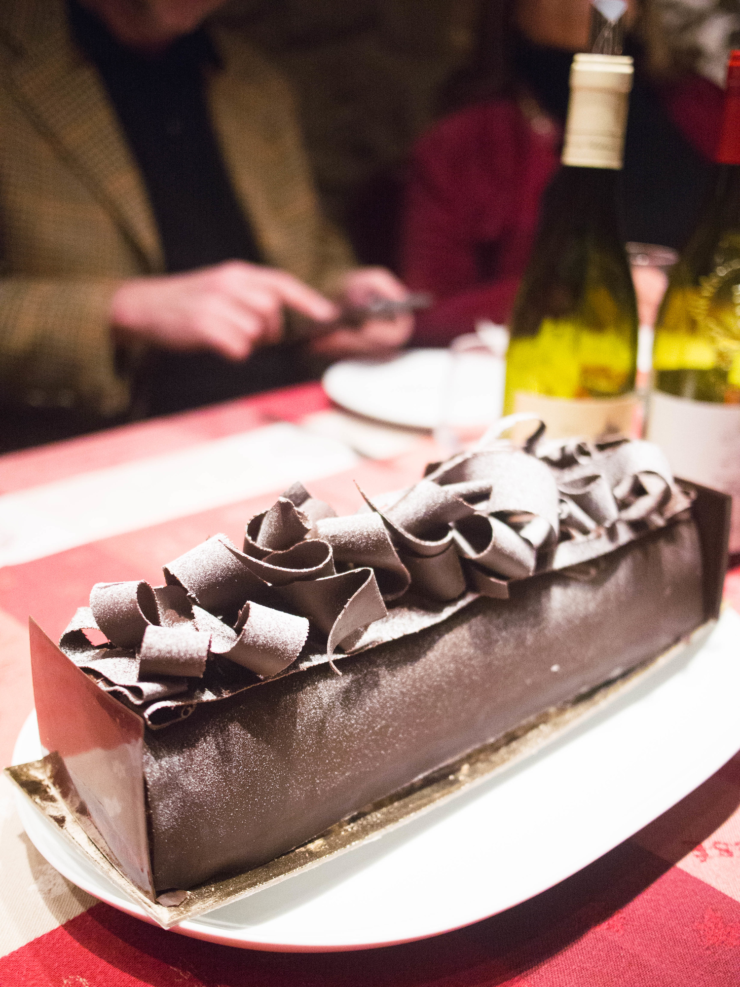 A yule log is one of the 13 desserts of Christmas, you'll find it on most tables for Christmas in Provence France