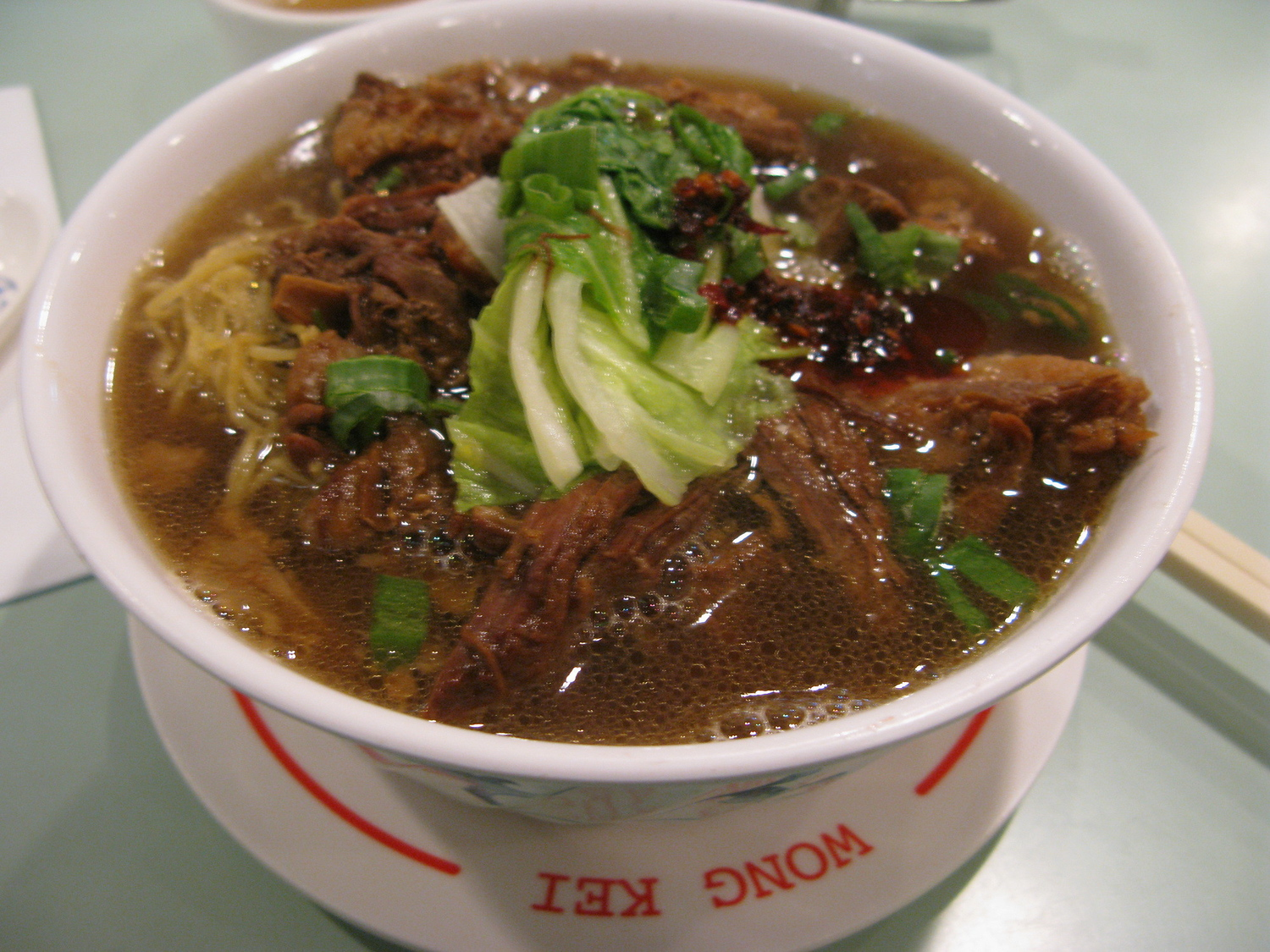 Brisket noodles is one of the most common Hong Kong foods.