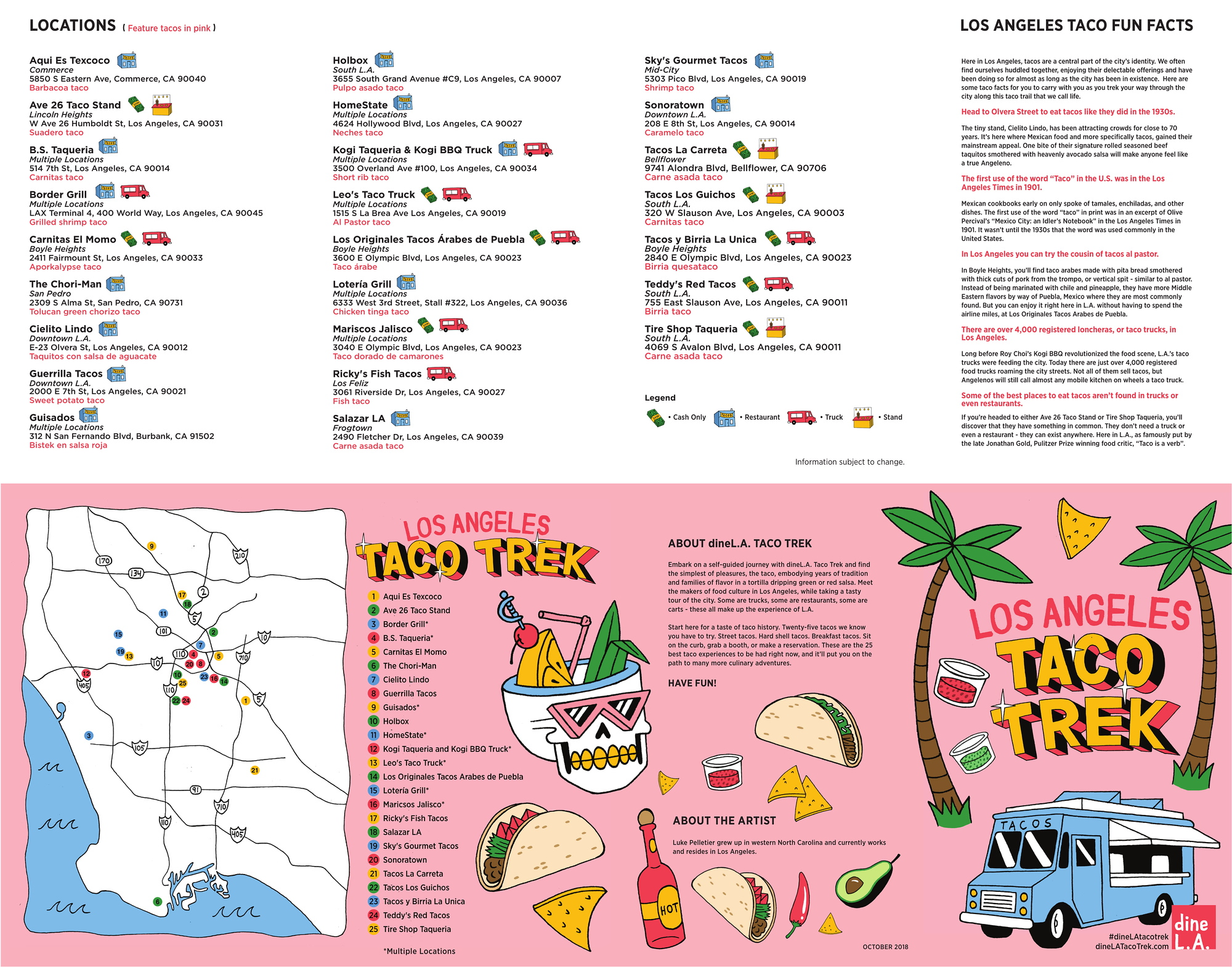 The best tacos in LA according to dineL.A.'s Taco Trek map.