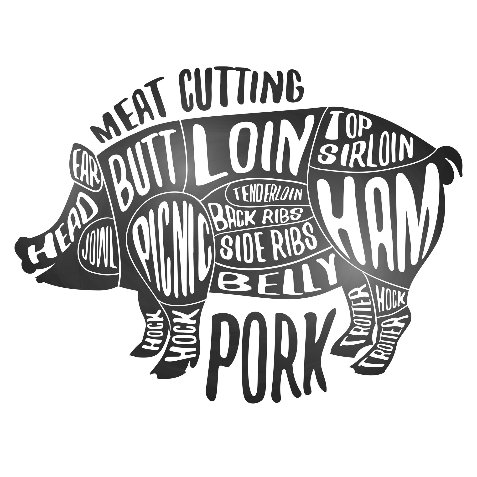 Pork parts: the difference between pork loin and pork tenderloin.