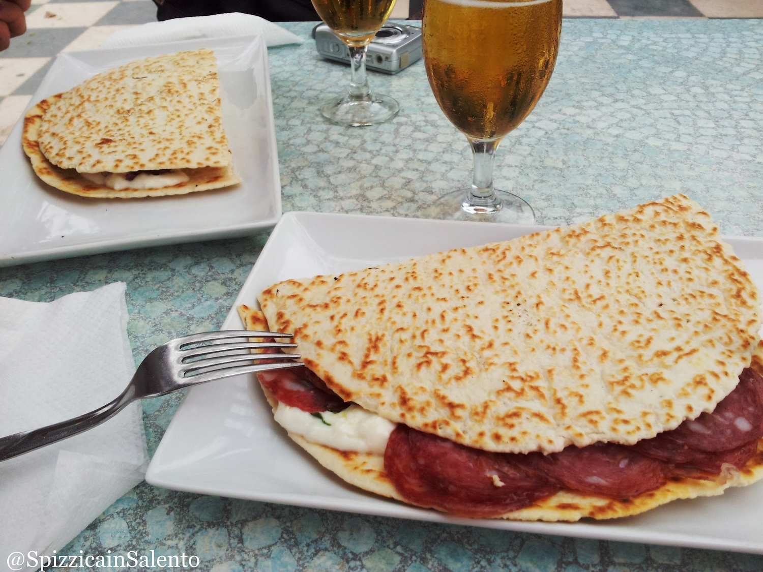 Piadina is a common food in Milan