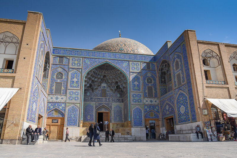 ISFAHAN IRAN - OCTOBER 22 2016 : Sheikh Lotfollah Mosque in Naqsh-e Jahan Square (Imam Square) one of the UNESCO world heritage sites in Isfahan (Esfahan) Iran